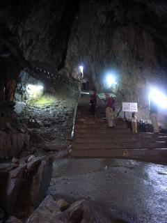 日原鍾乳洞の洞内
