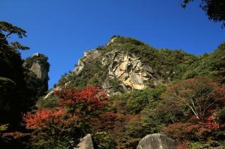 昇仙峡の赤く染まる紅葉