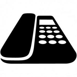受付用の電話
