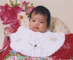 お宮参りの日の赤ちゃん
